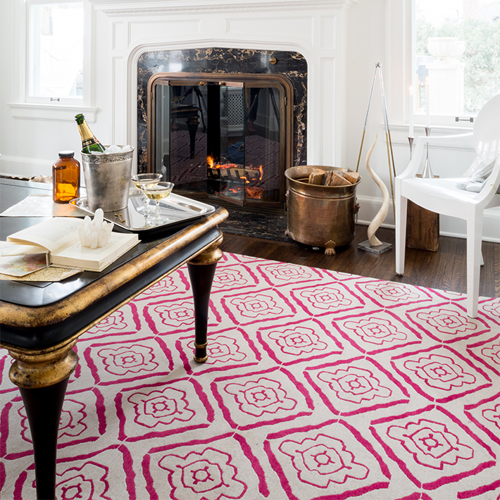 Area Rug Pattern Red And White Fay And Belle