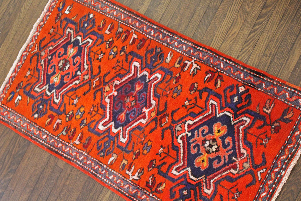 Orange Patterned Fay And Belle Scatter Rug Angle 1