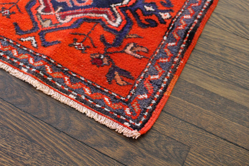Orange Patterned Fay And Belle Scatter Rug Angle 2