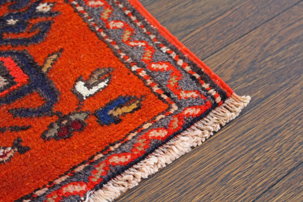 Orange Patterned Fay And Belle Scatter Rug Angle 3