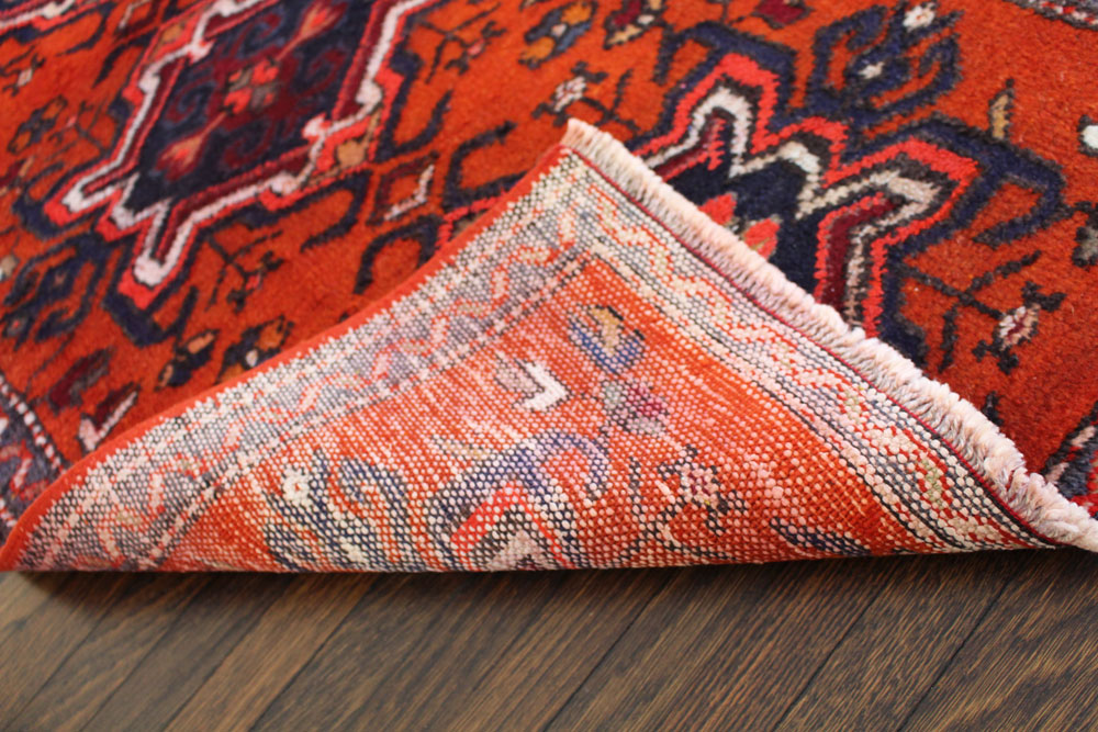 Orange Patterned Fay And Belle Scatter Rug Angle 4