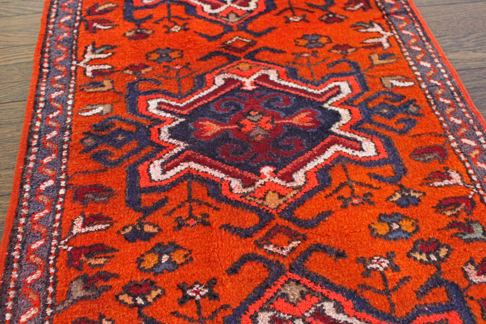 Orange Patterned Fay And Belle Scatter Rug Angle 5