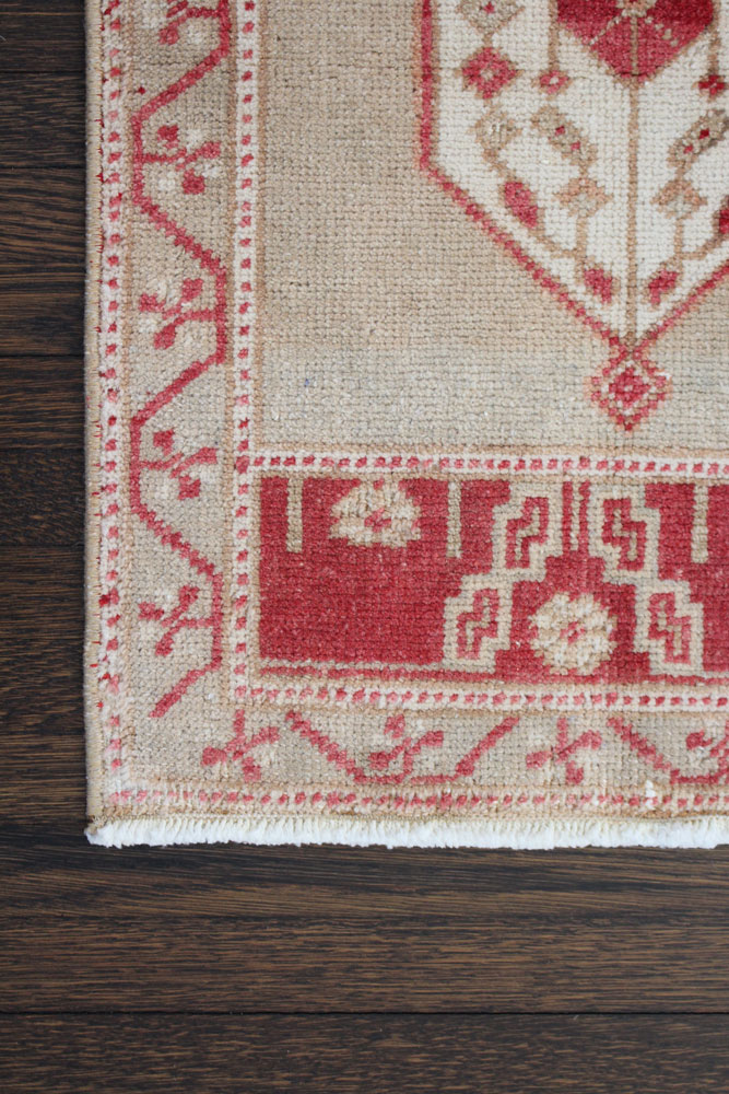 Red And Neutral Patterned Fay And Belle Scatter Rug Angle 2