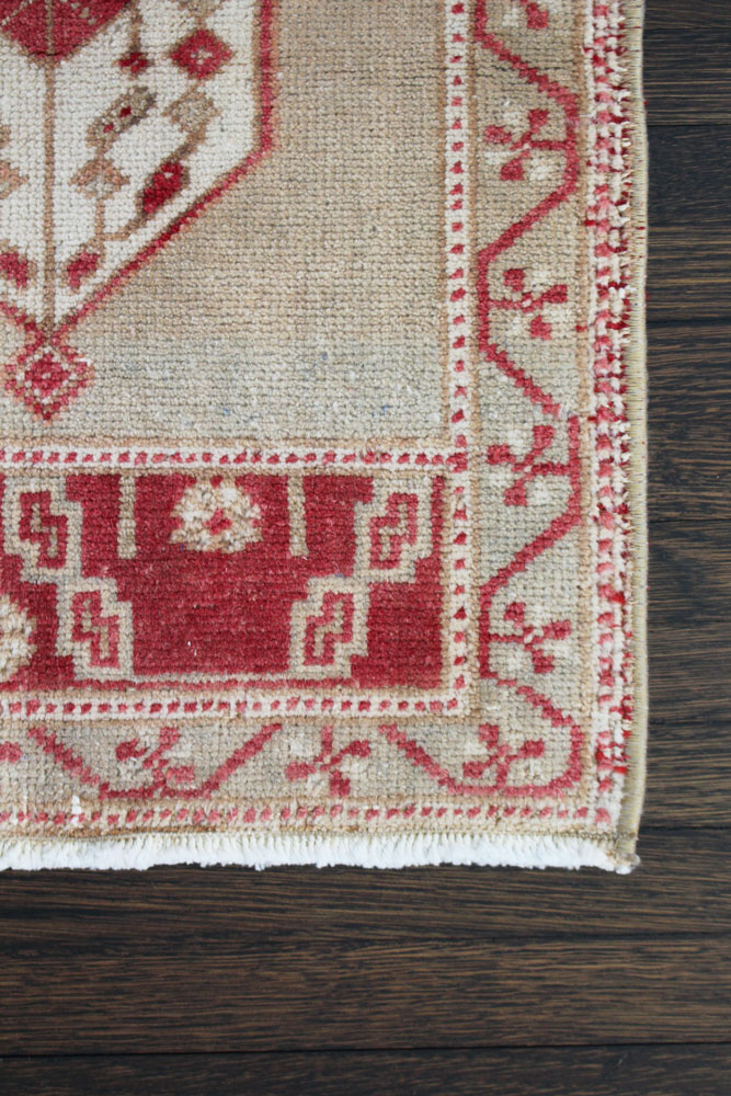 Red And Neutral Patterned Fay And Belle Scatter Rug Angle 3