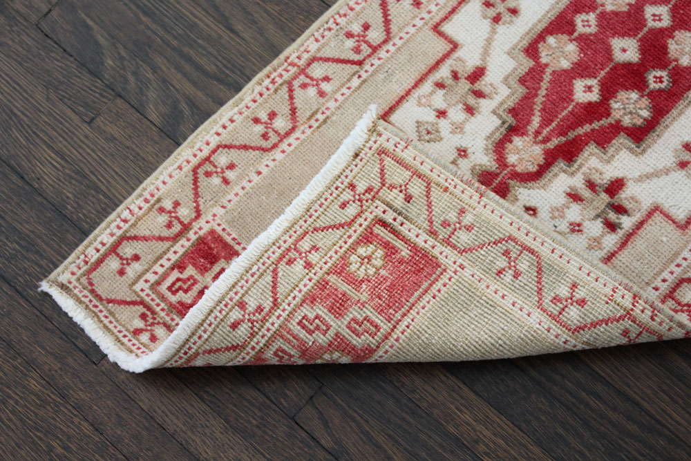 Red And Neutral Patterned Fay And Belle Scatter Rug Angle 4