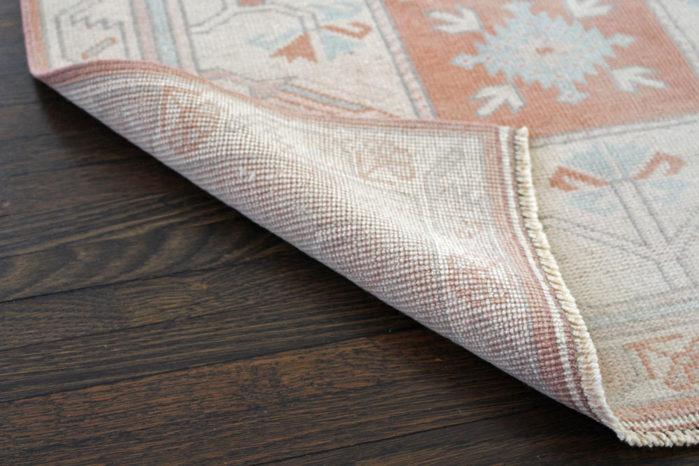 Salmon And Blue Patterned Fay + Belle Runner Angle 3