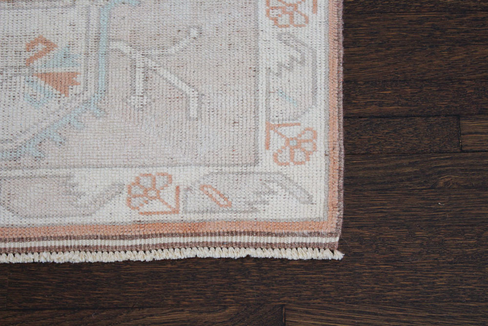 Salmon And Blue Patterned Fay + Belle Runner Angle 5