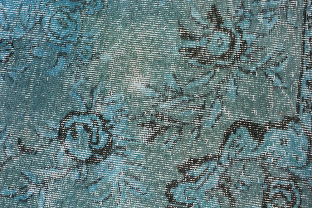 Black Turquoise Vintage Area Rug