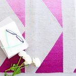 Custom Pattern Nepalese Rug Ella Pink Overhead