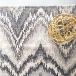 Custom Pattern Nepalese Rug Flamestitch Overhead