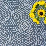 Custom Pattern Nepalese Rug Illusion Overhead