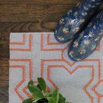 Custom Pattern Nepalese Rug Jacks Orange Beige Overhead
