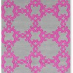 Custom Pattern Nepalese Rug Jewel Box Pink