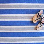 Custom Pattern Nepalese Rug Ministripe Blue Runner