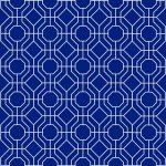 Custom Pattern Nepalese Rug Trellis Blue