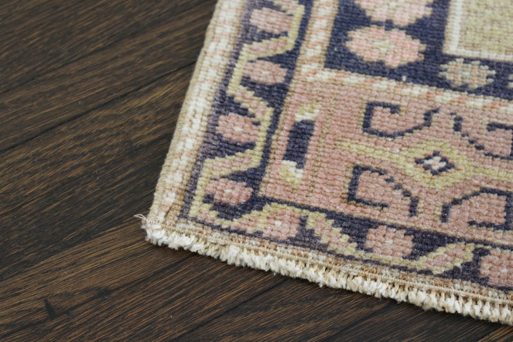 Navy Neutral And Mauve Patterned Fay And Belle Scatter Rug Angle 2