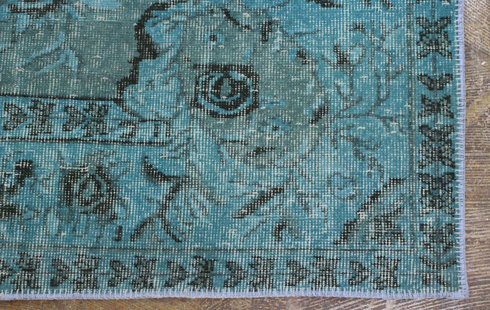 Turquoise Black Vintage Area Rug3