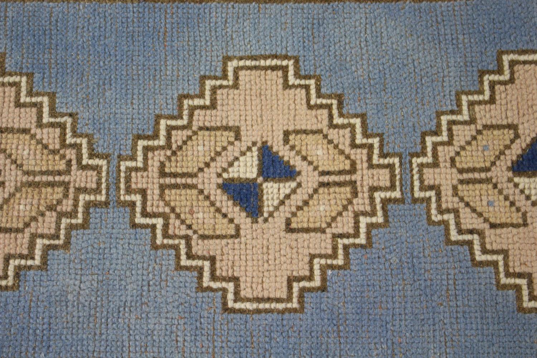 1blue Beige Tan Turkish Vintage Prayer Scatter Rug1