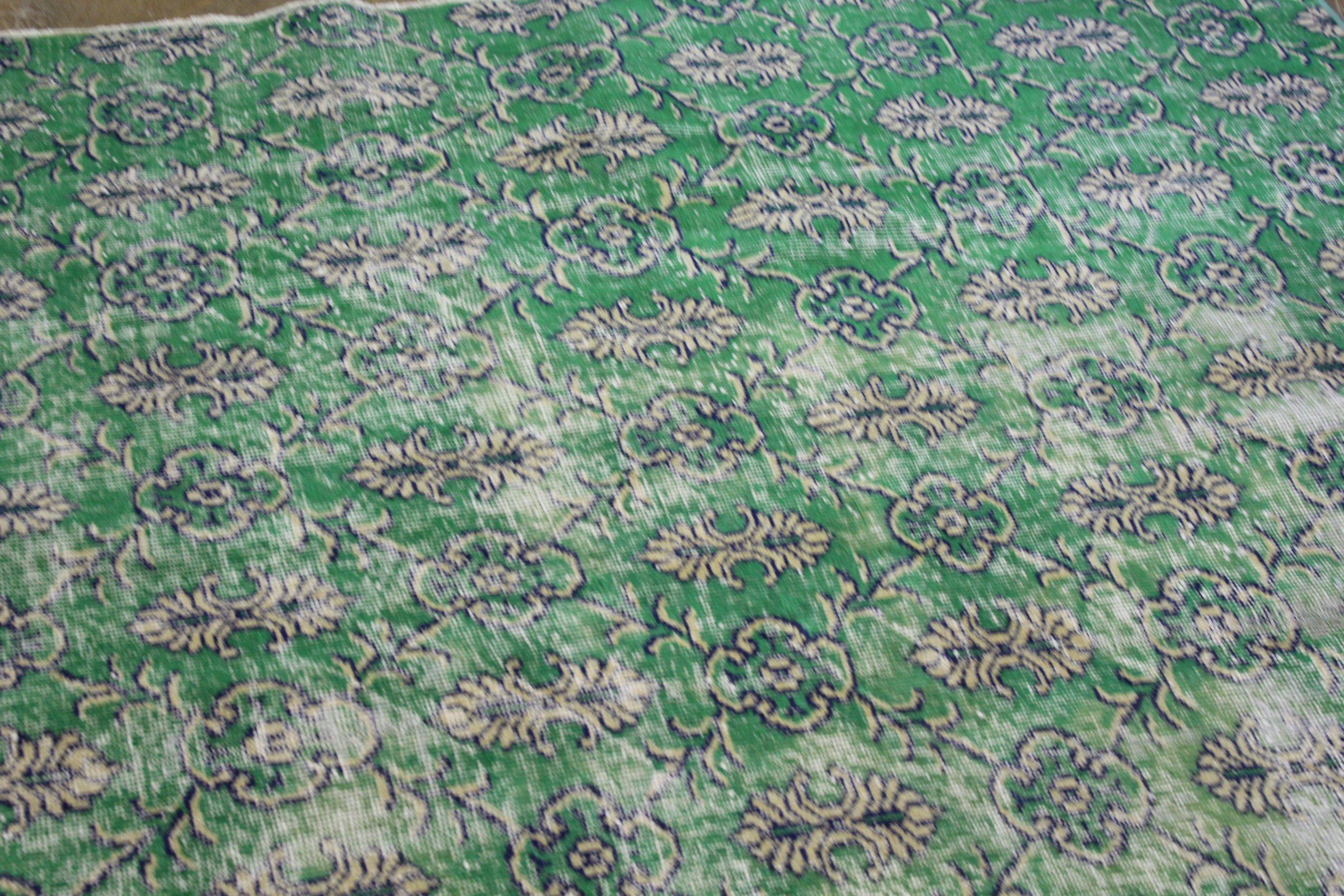 Green Blue Overdyed Turkish Area Rug2