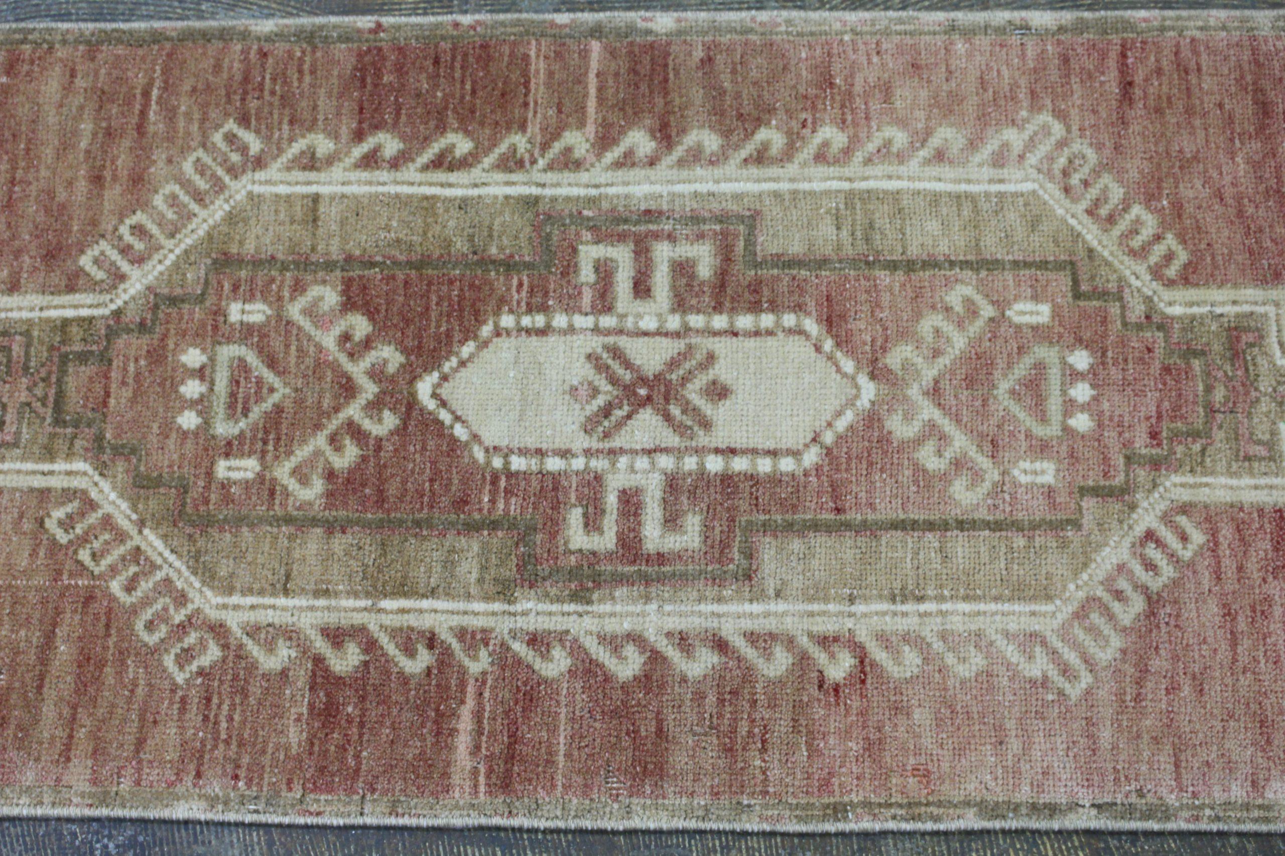 Rust Tan Turkish Vintage Scatter Prayer Rug2