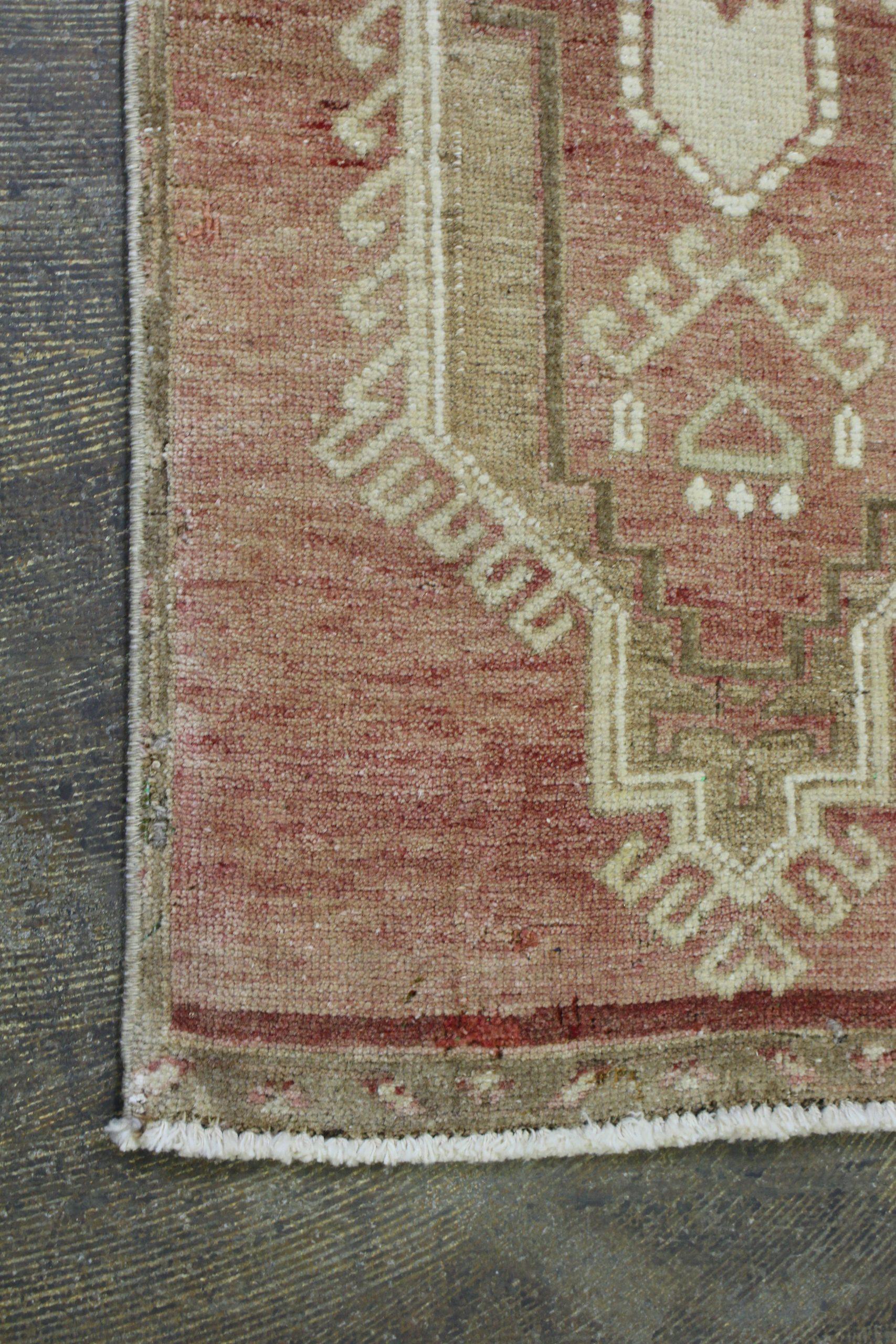 Rust Tan Turkish Vintage Scatter Prayer Rug3