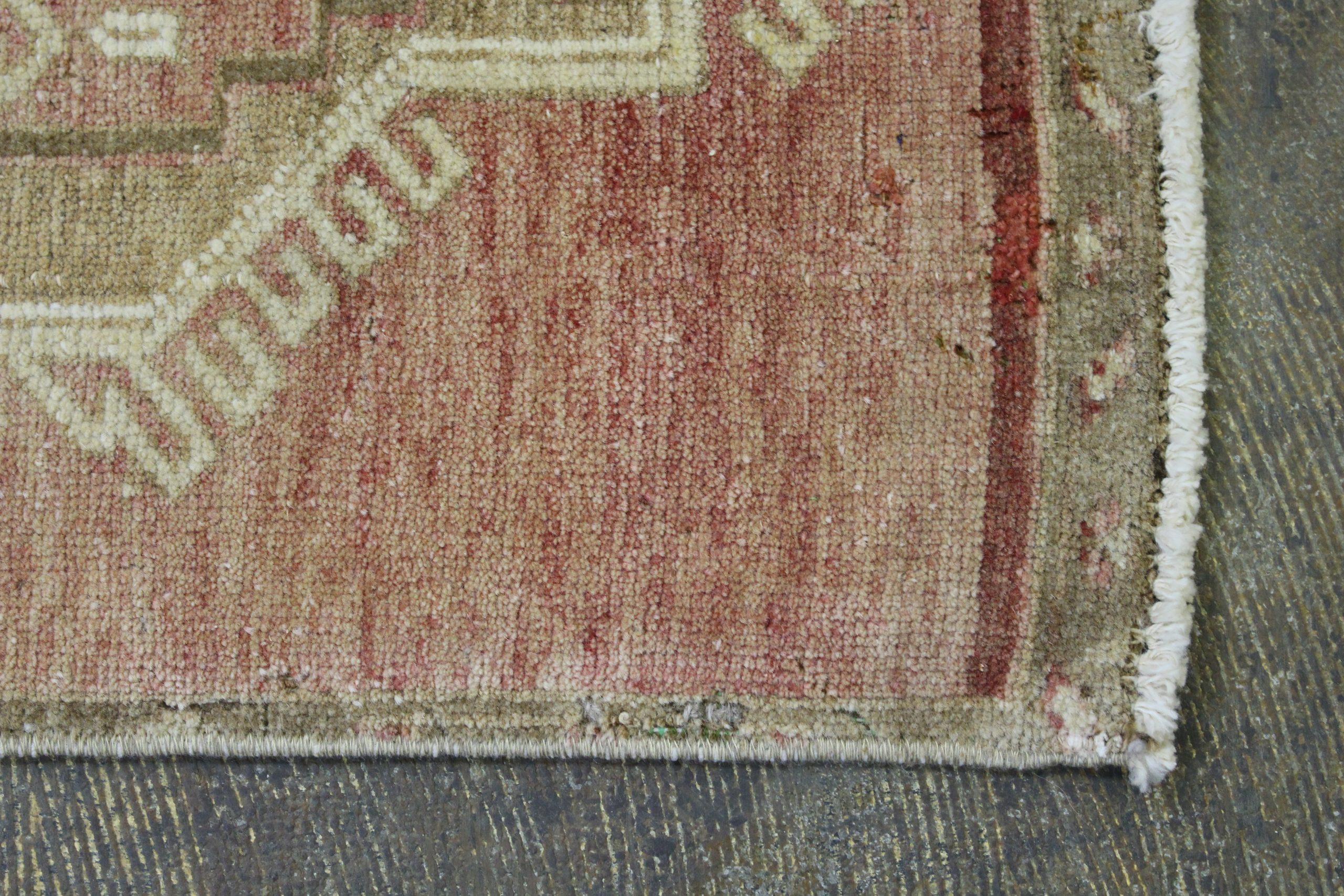 Rust Tan Turkish Vintage Scatter Prayer Rug4